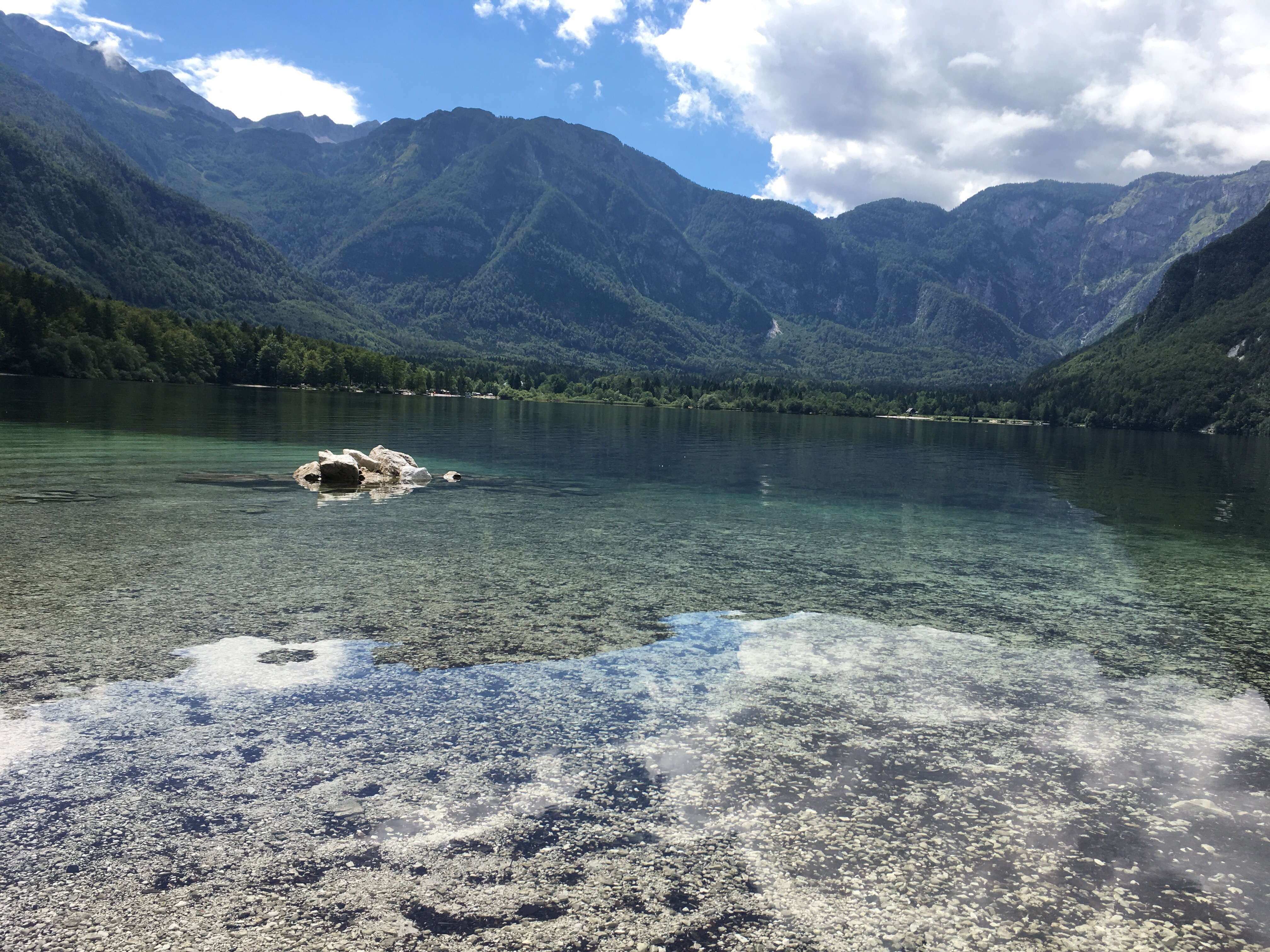 Just A Short Drive From Lake Bled And Back In The Triglav National Park,  The Julian Alps Provide The Backdrop For Lake Bohinj.
